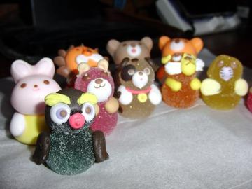 動物の形をしたお菓子