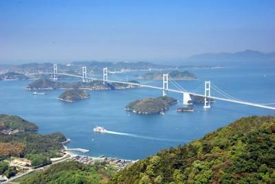 亀老山より来島大橋を眺める