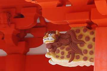 日御碕神社にある唐獅子