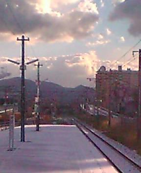 雪景色 駅にて....