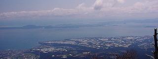 仁多峠から天草を眺める