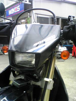 DR-Z400SMライトバルブのH4化