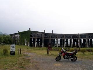 豊後森駅横にあるSL機関区