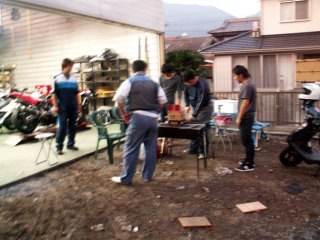 バイクセンター北九州店 BBQ開始