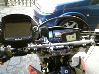 バイク用防滴液晶ディスプレー付きGPSレーダー探知機