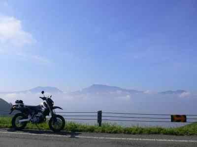 雲海とDR-Z400SM
