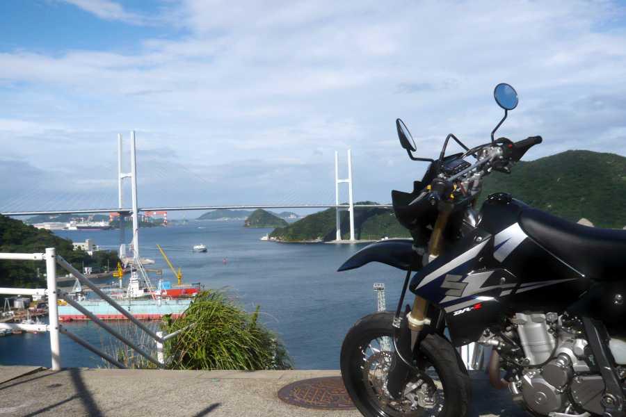 MotoGear/バイクのある風景【長崎女神大橋で、愛称はヴィーナスウィングブリッジ】
