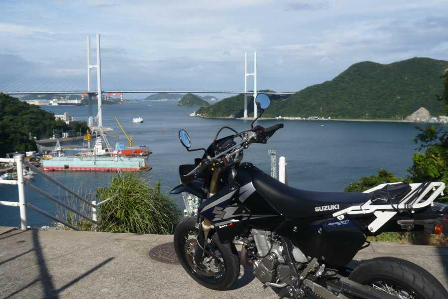 MotoGear/バイクのある風景【長崎女神大橋・ビーナスウィングブリッジ】